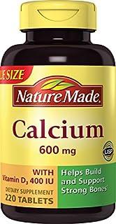 Nature Made Calcium (Carbonate) 600 mg w. D3 400 IU Tablets Mega Size 220 Ct