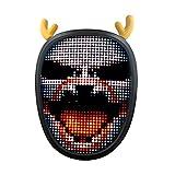 N\P Máscara luminosa para Halloween, Navidad, carnaval y festival que cambia la cara, luces de fiesta, máscara de Halloween