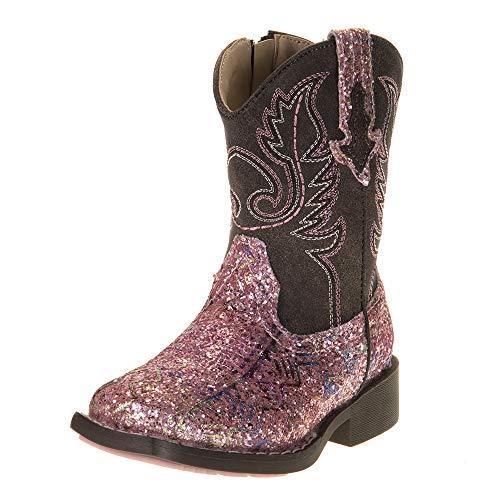Roper Girls Western Boot, Pink, 7 Toddler