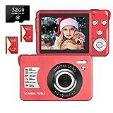 Cámara Digital Camara de Fotos 2.7 Pulgadas 1080P 30 megapíxeles HD Camara Fotos Recargable...