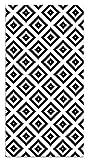 Panorama Alfombra Vinílica Cuadros Negro 60x200 cm - Alfombra Cocina Vinilo - Alfombra Salón Antideslizante e Ignífuga - Alfombras Grandes - Alfombras PVC