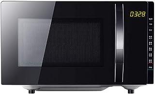 KOUPA Horno de microondas Retro de 700 vatios con encimera, 12 configuraciones de cocción preprogramadas, Reloj Digital, Interior de fácil Limpieza, Negro