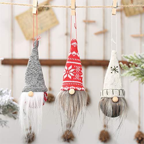goodjinHH 3er Set Weihnachten Deko Wichtel 16 cm Hoch, Schwedischen Weihnachtsmann Santa Tomte Gnom, Skandinavischer Zwerg Geschenke für Kinder Familie Weihnachten Freunde (Mehrfarbig)