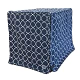 image of stylish patterned dog crate cover in blue
