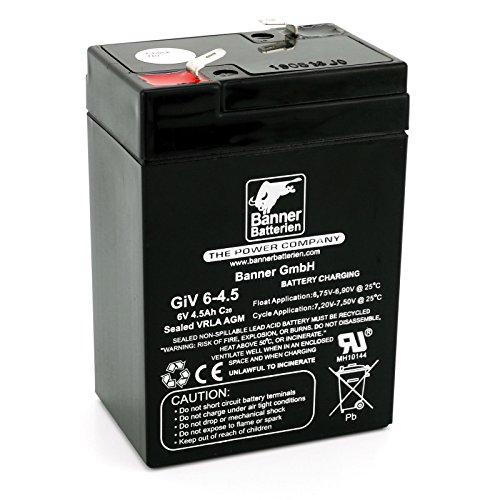 Banner Batterie Stand by Bull 6 Volt 4,5Ah Typ GiV 06-4.5 Akku Notstrombatterie Brandmeldeanlage Alarmanlage