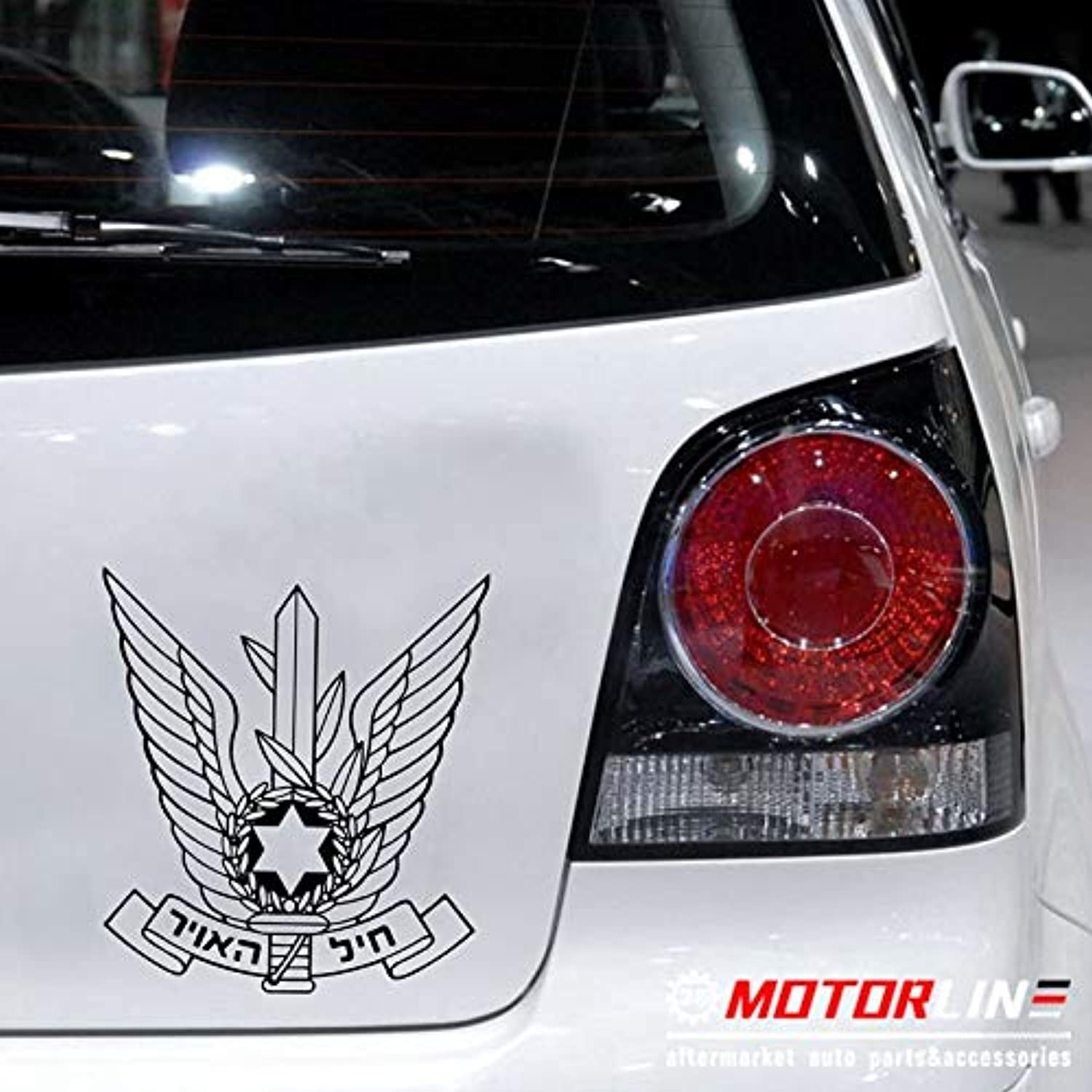 Israeli Air Force Insignia Decal Sticker Car Vinyl Pick Size color no bkgrd  (color Name , Size  20cm high)