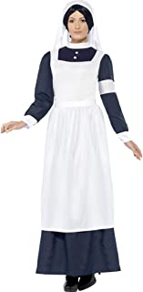 Ladies Wartime Nurse Florence Nightingale Victorian WW1 Fancy Dress Costume Outfit 12-22 Plus Size