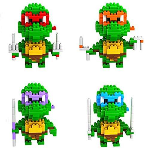 FJJF Nano Bausteine Für Kinder Teenager Mutant Ninja Turtles Model, Pädagogisches Spielzeug Für Junge