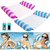 2-Pack Kexle Multi-Purpose Swimming Pool Inflatable Pool Floats Hammock