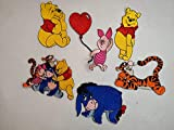 Winnie The Pooh Set of six, Embroidered Patches, Iron on Sew on Patch #576