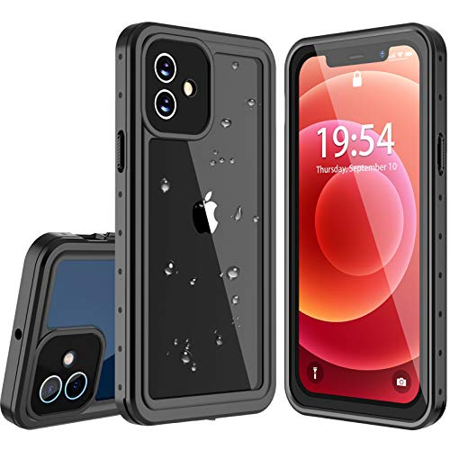 Oterkin for iPhone 12 Case, Compatible with iPhone 12 Waterproof Case Built in Screen Protector 360 Full Body Protective Shockproof Underwater IP68 Waterproof Case for iPhone 12 ONLY(6.1inch)