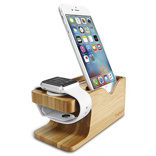 Spigen S370 Compatible con Apple Watch Stand y Telefono Stand para Todas Las Series de Apple Watch y Telefono