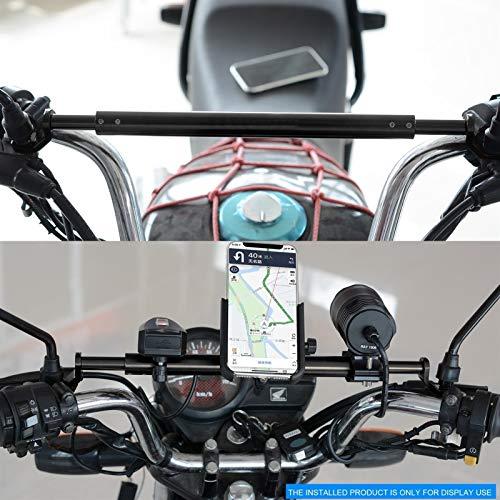 Barra de equilibrio del manillar de la motocicleta Soporte de extensión de modificación de motocicleta Soporte de teléfono móvil Accesorios de barra reforzada con GPS