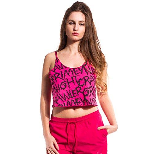GRIMEY Camiseta Tirantes Chica Night Crawler SS17 RUBINE Red-S