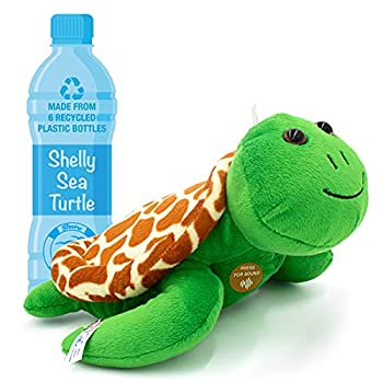 Authentic Sound Stuffed Ocean Animal   12  Plush Toy Turtle   Save The Ocean with Every Purchase   Shelly The Sea Turtle by SHORE BUDDIES   100% Made from Recycled Bottles   Gift for Kids