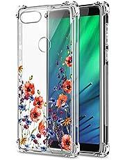 Oihxse Cristal Compatible con Xiaomi Redmi 6 Pro/A2 Lite Funda Transparente TPU Silicona Estuche Airbag Esquinas Anti-Choque Anti Rasguños Diseño Rosa Flower Caso (Flores A7)