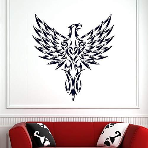 Preisvergleich Produktbild yaoxingfu Schädel Halloween Hawk Aufkleber Punk Death Decal Devil Poster Name Autofenster Kunst Wandtattoos Parede Decor M schwarz 58x61cm