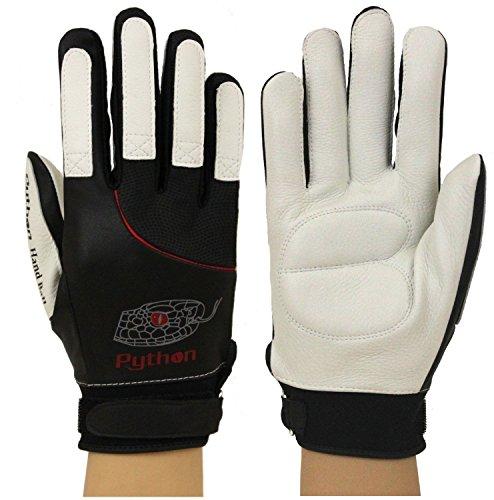 Python Deluxe Handball Glove (Pair) (Padded) (w/Strap) (Medium)