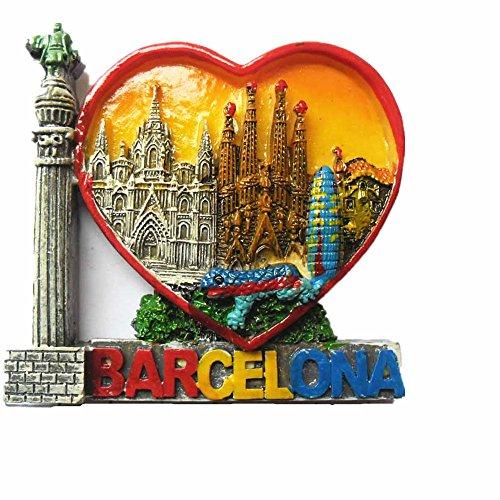 Barcelona Spanien 3D-Kühlschrank-Magnet Reise Aufkleber Buchstaben Stil Souvenir, Home & Kitchen Dekoration, Barcelona Spanien Kühlschrankmagnet