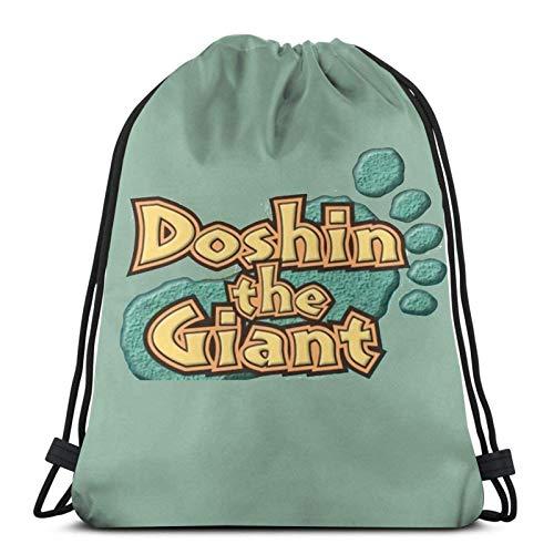 WH-CLA Drawstring Bags Doshin The Giant Logo Mochila con Cordón Anime Mujer Gimnasio Cinch Bolsas Estampado Ligero Hombre Casual Durable Único Mochila con Cordón Viaje para Senderismo Mon