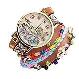 fossil Herren Uhr,Eine Literarische Jugend Fahrrad National Wind Armband Frauen Uhr Leinwand Band Anhänger Uhr @ 6