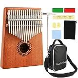 Nabance Kalimba 17 Key Thumb Piano Marimba Instrumento Música Finger Piano con Martillo de Afinación y Accesorios con Bolsa de Transporte para regalo Principiantes y Profesionales