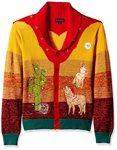 Blizzard Bay Men's Ugly Christmas Sweater Southwestern, Green, Small