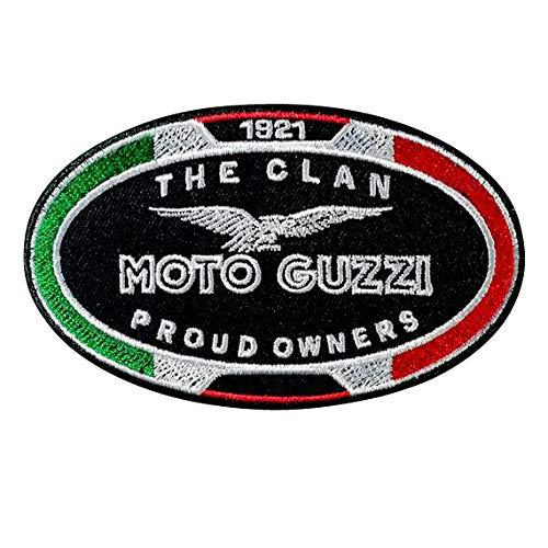 Moto Guzzi Aufnäher zum Aufbügeln, bestickt, für Jacke, Kapuze, T-Shirt, Jeans, Tasche, Sport, Motorrad, Big Bike, klassisch