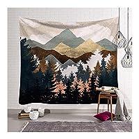 タペストリー自然風景サンセットタペストリー山の森の木美的タペストリーヒッピーボヘミアンタペストリー壁掛け家の装飾-CHY-37_78.7x59.0 ''