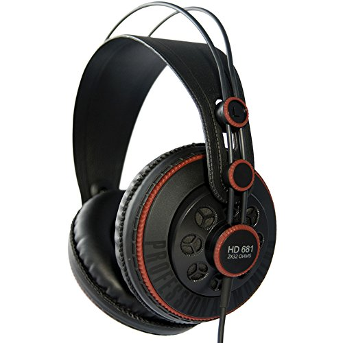 SuperLux HD681 - Auriculares de diadema cerrados (98 dB, 3.5 mm, 6.3 mm), color negro