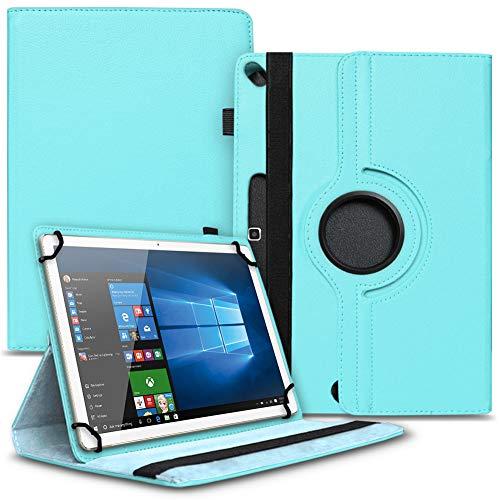 Tasche Hülle kompatibel für Archos 101b Oxygen Tablet Cover Schutz Hülle Schutzhülle 360° Drehbar, Farbe:Türkis