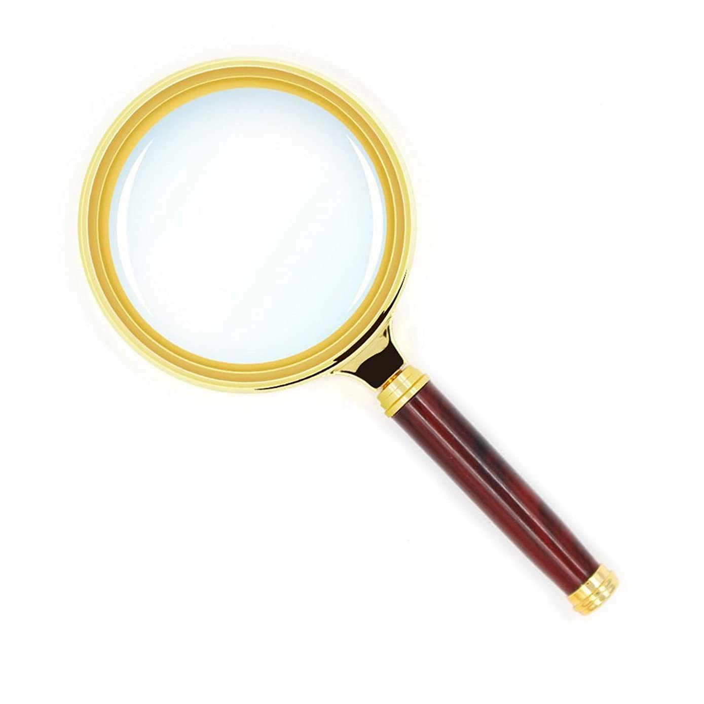 XHHWZB 10X Handheld Magnifier, Reading Magnifier Loupe Glasses 10X With Rosewood Handle for Book and Newspaper Reading