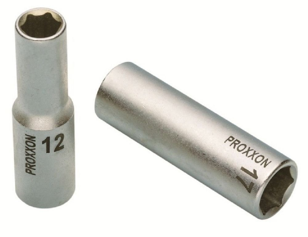 Tama/ño 13mm Longitud Total 79mm Proxxon 23 358 Vasos Largos de 1//2