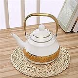 SUZYN Tetera de Juegos de té Tea Pots esmaltada Tetera teteras Tetera Ollas Esmalte de Gas Cocina de inducción Caldera de...