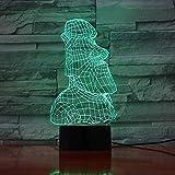 Elementos de moda decoración del hogar Isla de Pascua estatua de piedra luz nocturna antiguo retrato romano decoración lámpara de mesa 3D regalo lámpara de mesita de noche inteligente
