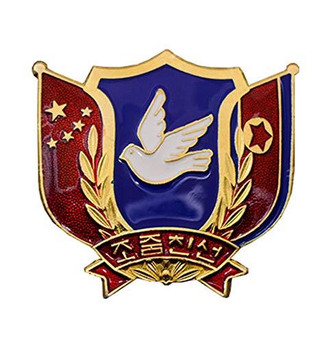JXS Insignia de Memorial de la Guerra de Corea China, una réplica de la Medalla de la Amistad de China-Corea, una réplica de la colección de Insignias de aleación por fanáticos Militares