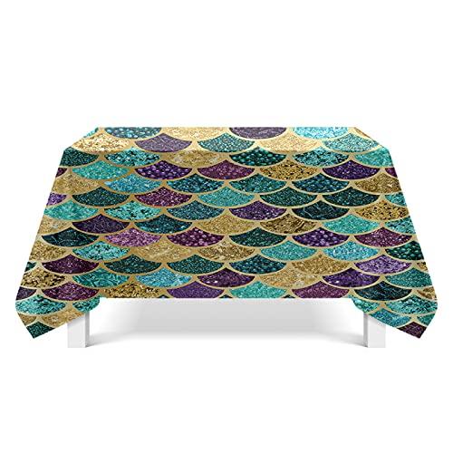 DSman Tablecloth, Tischdecke für Party, Geburtstag, Hochzeit Fischschuppen-Texturkunst
