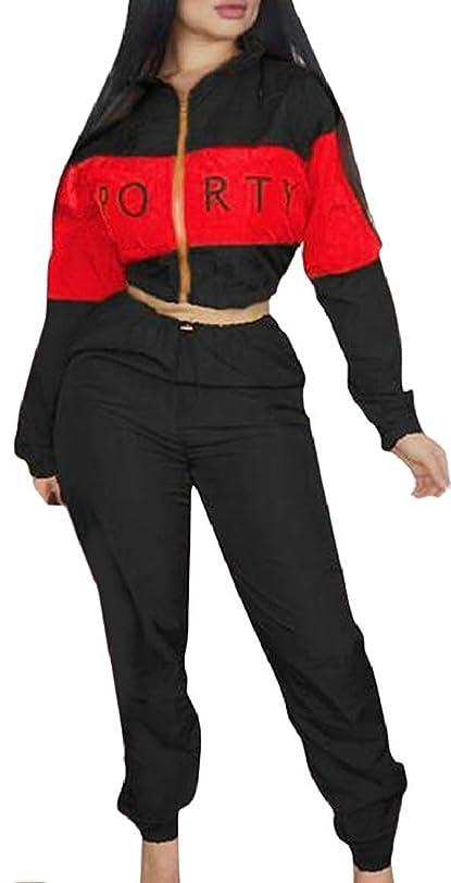 便利台無しに首レディースツーピースパンツ衣装 長袖ジャケット トップパンツスーツセット 4 US Medium