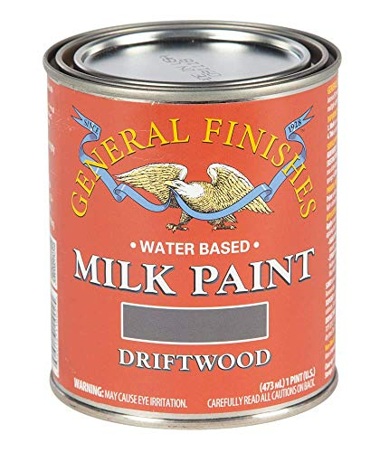 General Finishes Water Based Milk Paint, 1 Pint, Driftwood