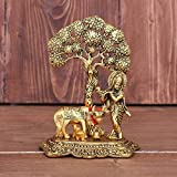 Package Contains - 1 Cow krishna statue, Material -Aluminium, Color - Gold Oxidized, Size H x W x L- 17 Cm x 12 Cm x 8 Cm Handmade Handicraft Gift Piece Gives Royal and Rich Look Wherever It Is Placed Considered a must have element in Vastu. Kamadhen...