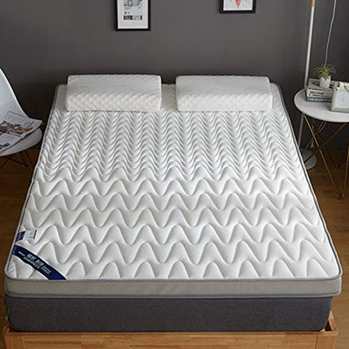 AICKERT Colchón Látex 90 * 200cm~180 * 200cm Tatami Japonés Confort futón Enrollable Funda...