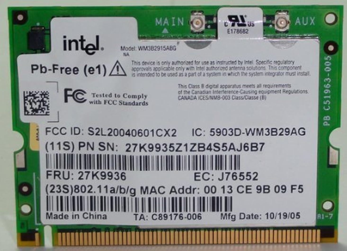 パット撤退販売員IBMインテルPro x40?–?WiFi Mini - PCI 802.11?B / G?–?93p3483