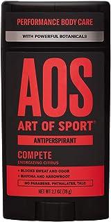 Art of Sport Men's Antiperspirant Deodorant - Compete Scent - Antiperspirant for Men with Natural Botanicals Matcha and Arrowroot - Energizing Citrus Fragrance - Made for Athletes - 2.7oz