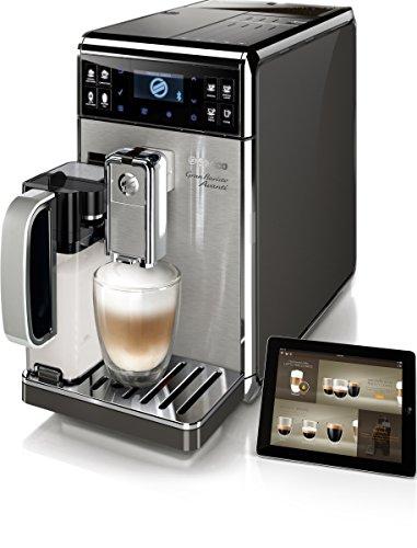 Saeco GranBaristo Avanti - Cafetera espresso automática, con recipiente para leche, color negro y plata