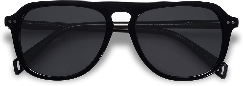 SOJOS Retro 90s Polarized Aviator Sunglasses for Women Men Vintage Square Shades Acetate Frame SJ2192