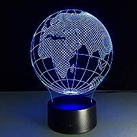 視力の疲労を和らげる、世界地図、3Dビジョン、3Dテーブルランプ、LED照明、ホームデコレーションデスク