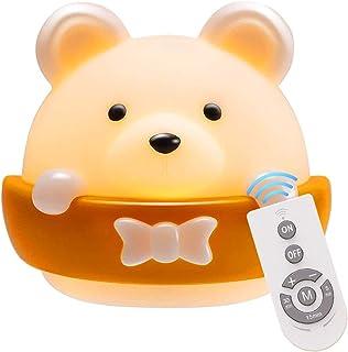 Plartree Luz de Noche LED para Niños, Lámpara de Noche Portátil Recargable por USB, Habitación de Bebé, Lindo Luz de Noche con Forma de Animal para Leer/Dormir