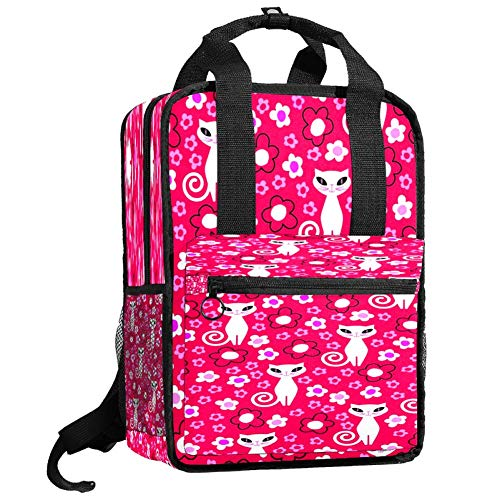 Backpacks Shoulders Bag white cat beauty Backpack traveling middle school high school