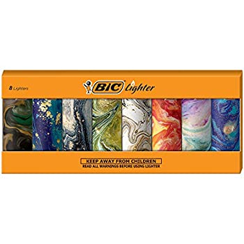 BIC Special Edition Marble Series Lighters Set of 8 Lighters