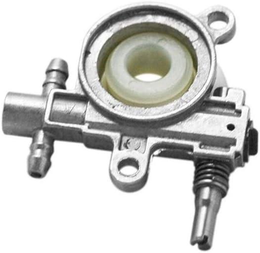 Premontado 2500/3800 de la Motosierra de la Bomba de Piezas de Repuesto de la Motosierra con el Gusano del Engranaje Impulsor Adapta Motosierra 25CC / 38cc Logrado (Color : Silver)